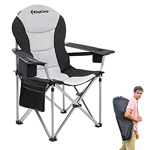 KingCamp Lumbar Support Camping Chair for Adults Heavy Duty Padded...