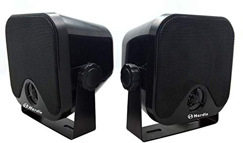 4 Inches Heavy Duty Waterproof Boat Marine Box Outdoor Speakers Surface...
