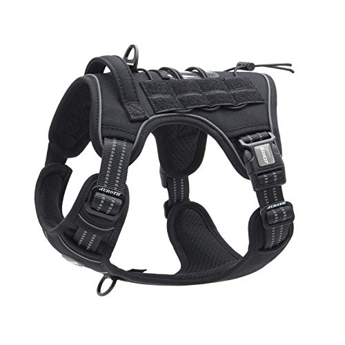 Auroth Tactical Dog Harness for Large Dogs No Pull Adjustable Pet Harness...