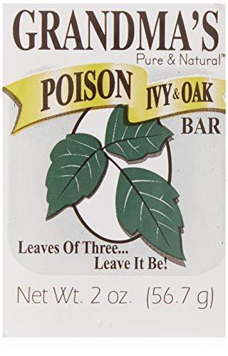 Grandma's Poison Ivy Soap Bar - 2.0 oz Itch Relief Wash with Jewelweed &...