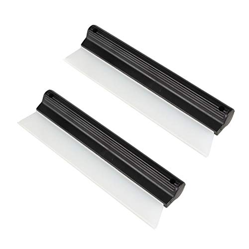 2 Pack 10 Inches Cleaning Water Squeegee Blades Soft Silicone Squeegee for...