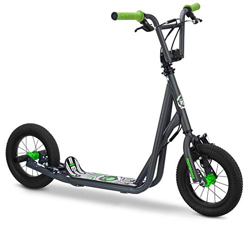 Mongoose Expo Youth Scooter, Front and Rear Caliper Brakes, Rear Axle Pegs,...