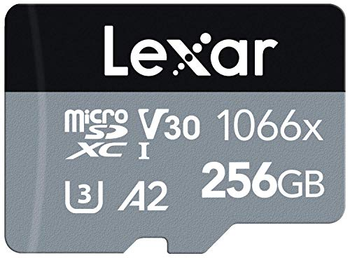 Lexar Professional 1066x 256GB MicroSDXC UHS-I Card with SD Adapter SILVER...