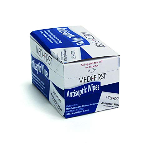 Medique Medi-First Antiseptic Wipes, Benzalkonium Chloride Cleansing...