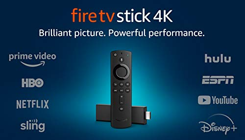 Fire TV Stick 4K streaming device with Alexa Voice Remote (includes TV...