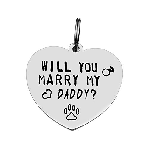 Funny Pet Tag Dog Collar Tag Dog ID Tag Dog Dad Gift Will You Marry My...