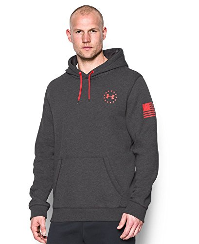 Under Armour Men's WWP Hoodie, Carbon Heather (090)/Rocket Red, Small