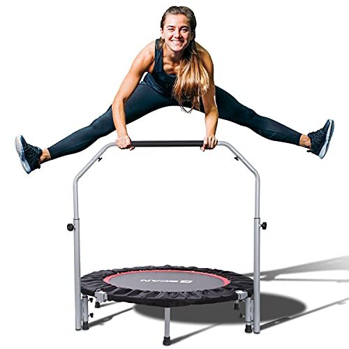 BCAN 40' Foldable Mini Trampoline, Fitness Rebounder with Adjustable Foam...