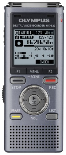 Olympus WS-822 GMT Voice Recorders with 4 GB Built-In-Memory