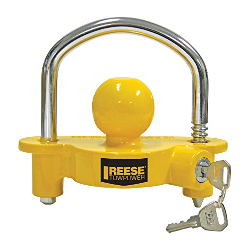 REESE Towpower 72783 Coupler Lock, Adjustable Storage Security, Heavy-Duty...