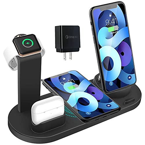 Wireless Charger 4 in 1 Charging Dock for iWatch and Airpods Pro Charging...