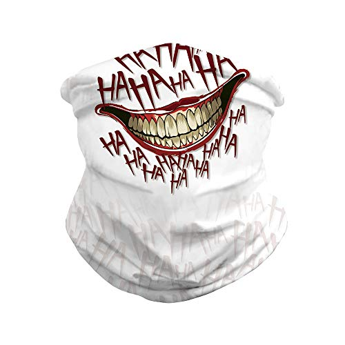 Bandanas Rave 3d Print Joker Mouth Face Mask Cover Outdoors Protect from...