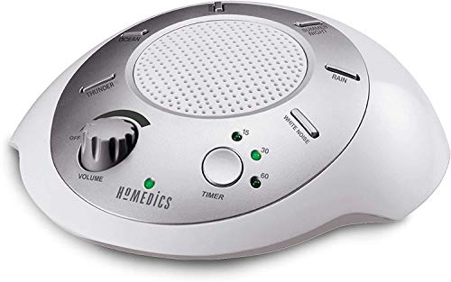 HoMedics White Noise Sound Machine | Portable Sleep Therapy for Home,...
