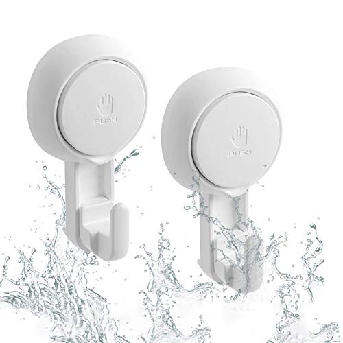 LUXEAR Suction Hooks Powerful Vacuum Suction Cup Hooks- Heavy Duty Shower...