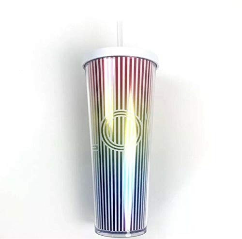 2019 Summer Collection LOVE IRIDESCENT RAINBOW Acrylic Cold Cup Tumbler 24...
