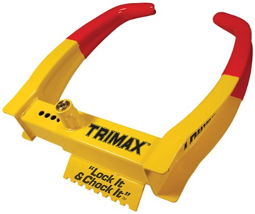 Trimax TCL65 Wheel Chock Lock , Yellow/Red, 7.25in