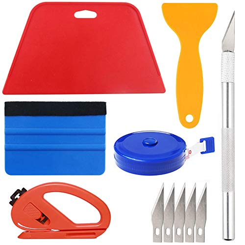 Wallpaper Smoothing Tool Kit Include red Squeegee,Medium-Hardness Squeegee,...