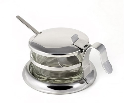 Stainless Steel Salt Server/Cheese Bowl/Condiment Serving Bowl & Spoon Set...