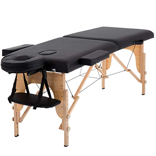 Massage Table Massage Bed Spa Bed 84 Inches Long Portable 2 Folding W/Carry...