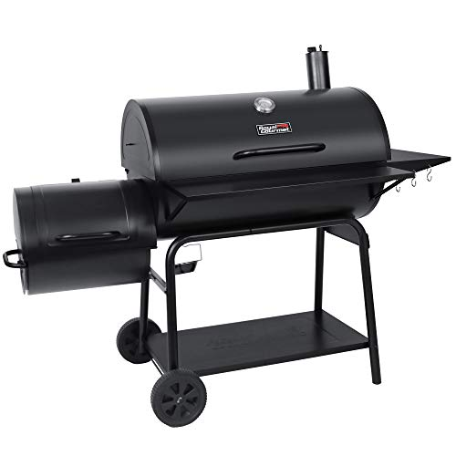 Royal Gourmet CC2036F Charcoal Barrel Grill with Offset Smoker, 1188 Square...