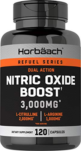 Nitric Oxide Booster 3000mg | 120 Capsules | Nitric Oxide Pills with L...