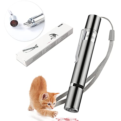 Red Light Pointer Cat Toy,Support USB Charging,Pets Cat Mice and Kitten...