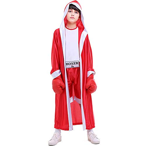 Children Boxing Costume Boxer Cosplay Halloween Party Dress Decoration Role...
