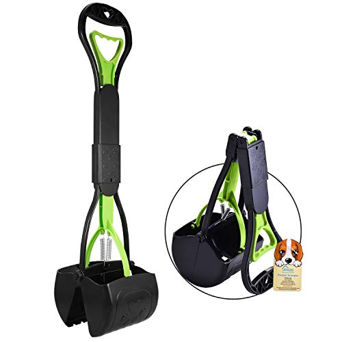 PPOGOO Non-Breakable Pet Pooper Scooper for Dogs and Cats with Long Handle...