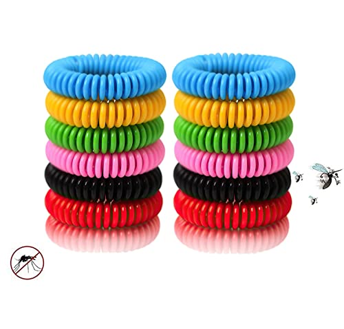 Bug Band 24 Packs Colorful Bracelets, Waterproof and Reusable with Nature...