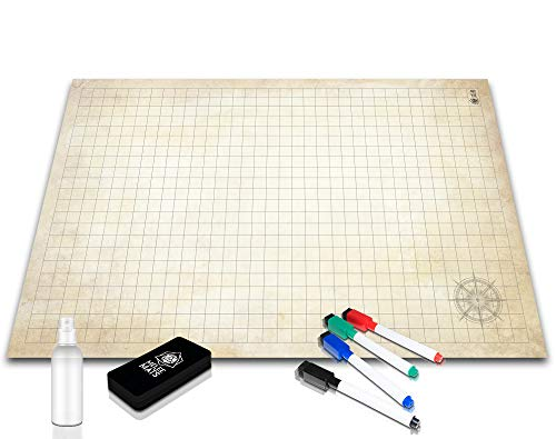 Battle Grid Game Mat - Ultra Durable Polymer Material - Role-Playing Grid...