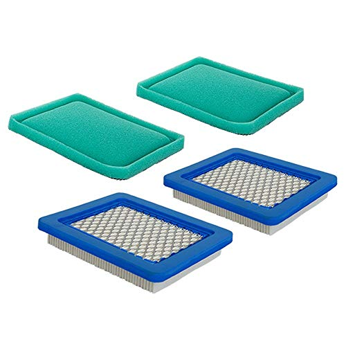 HEYZLASS 2 Pack Air Filter + Pre Filter, Compatible with Briggs Stratton...