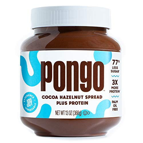 Pongo Cocoa Hazelnut Protein Spread - Low Sugar and Low Carb - Natural...