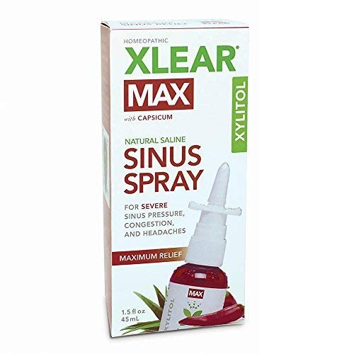 XLEAR MAX Nasal Spray, 1.5oz, New! Natural Formula With Xylitol, Capsicum,...