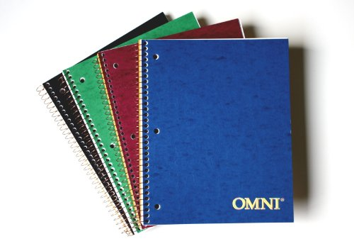 NorcomOmni 1 Subject Notebook, 9.5 x 6.5 Inch, 1 Notebook, Assorted Colors...