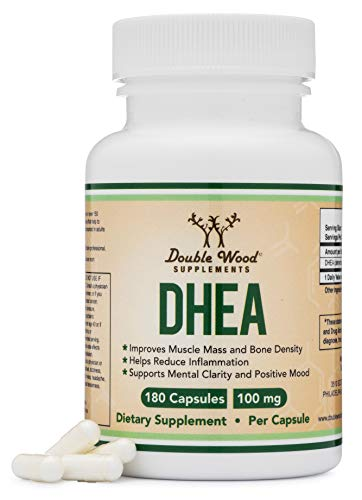 DHEA 100mg – 180 Capsules -Third Party Tested, Made in The USA (Max...