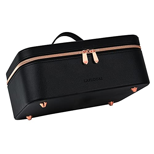 Large Makeup Travel Organizer Bag Leather Cosmetic Train Case with...