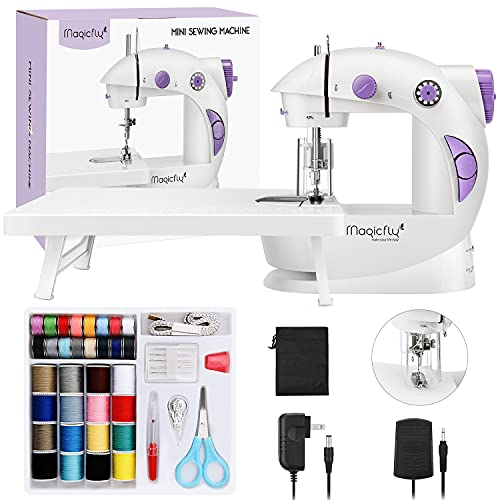 Magicfly Mini Sewing Machine for Beginner, Dual Speed Portable Sewing...