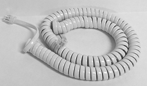 The VoIP Lounge Replacement 12 Foot White Handset Curly Cord for AT&T Phone...