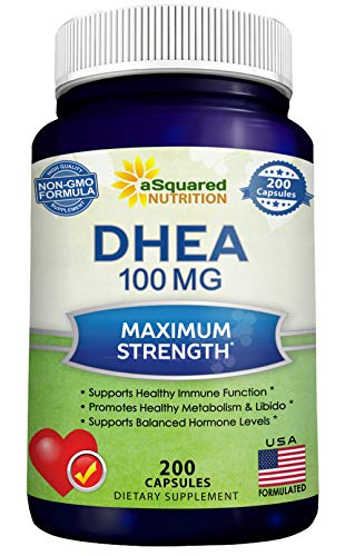 DHEA (100mg Max Strength, 200 Capsules) to Promote Balanced Hormone Levels...