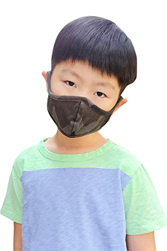 Kid's Fabric Face Cover - Cute Print Fashion Outdoor Cloth Covering...