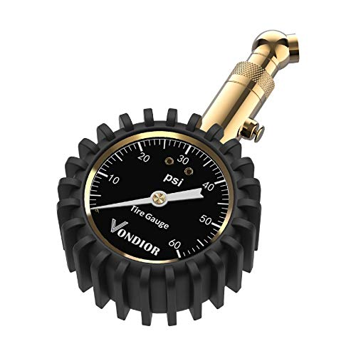 Tire Pressure Gauge - (0-60 PSI) Heavy Duty, Certified ANSI Accurate with...