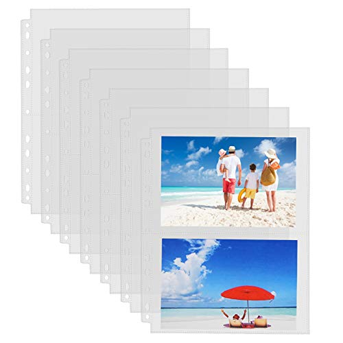Sooez 30 Pack Heavy Duty Photos or Postcards Page Protectors, Plastic Clear...