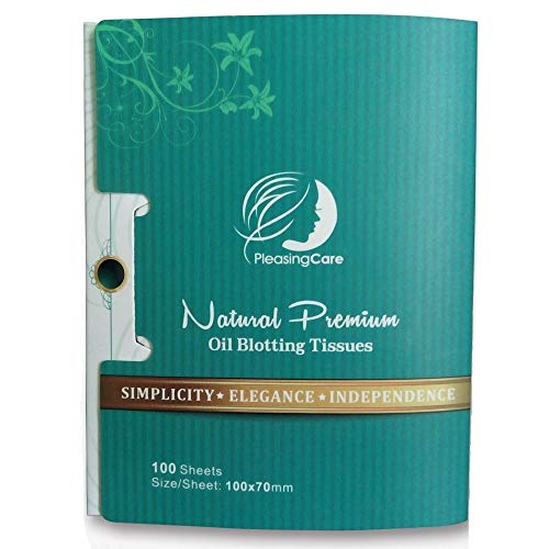 Natural Bamboo Charcoal Oil Absorbing Tissues - 100 Counts, Easy Take Out...