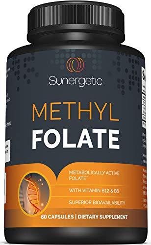 Premium Methyl Folate Supplement – Methyl Folate Capsules with Methylated...