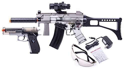 GAME FACE GFRPKTGS Ghost Affliction Full-Auto Airsoft BB Rifle And...