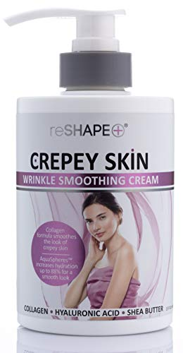 Crepey Skin Treatment Cream Wrinkle Smoothing cream w/Collagen, Hyaluronic...