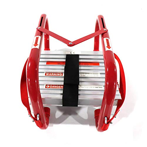 Fire Escape Ladder 5&6 Story Portable Emergency Escape Ladder 50ft with...