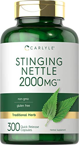 Stinging Nettle Leaf Extract 2000mg   300 Capsules   Non-GMO & Gluten Free...