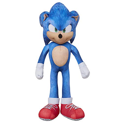 Sonic The Hedgehog 13 Inch Talking Sonic Plush with 10 Different Sounds