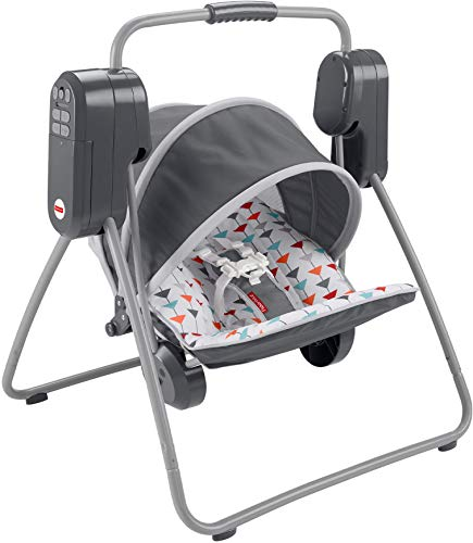Fisher-Price On-the-Go Swing – soothing baby swing that easily folds and...